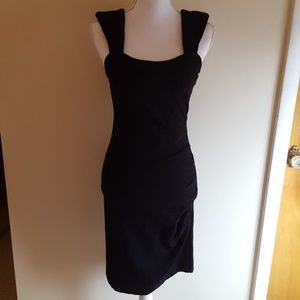 Arden B ruched black dress